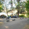 Campsite along the Deschutes River.- Tumalo State Park Campground