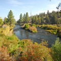 View from the Deschutes River Trail.- Tumalo State Park Campground