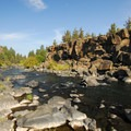 View looking north along the Deschutes River.- Sawyer Park