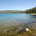 Paulina Lake from the Little Crater Campground day-use area.- Little Crater Campground
