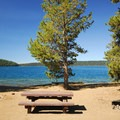 Waterfront campsite.- Little Crater Campground