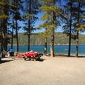 Waterfront campsite.- East Lake Campground