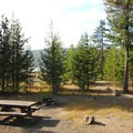 One of the campground's better sites.- Cinder Hill Campground