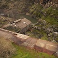 Looking down at the old powerstation.- White River Falls State Park