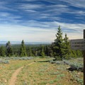 View looking east from near the summit.- Lookout Mountain + Mother Lode Mine