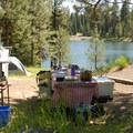 Typical campsite.- Walton Lake Campground