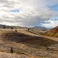 View looking west from the Painted Hills Overlook Trail.- Painted Hills Unit