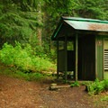Campground restroom facilities.- Lost Lake Campground at Lost Lake Resort