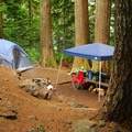 Lakeshore campsite.- Lost Lake Campground at Lost Lake Resort