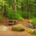 Typical campsite.- Lost Lake Campground at Lost Lake Resort