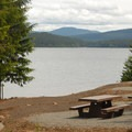 Pine Point Campground day-use area, overlooking Timothy Lake.- Timothy Lake, Pine Point Campground
