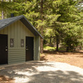 Restroom facilities.- Timothy Lake, Pine Point Campground
