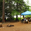 One of the campground's better campsites.- Timothy Lake, Gone Creek Campground