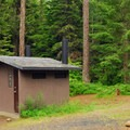 Restroom facilities.- Timothy Lake, Gone Creek Campground