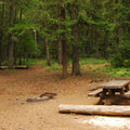 Recommended campsite.- Timothy Lake, North Arm Campground