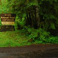 Campground entrance.- Green Canyons Campground