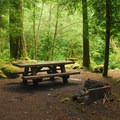 One of the campground's better campsites.- Tollgate Campground
