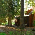 Clackamas Lake Historic Cabin, near the old ranger station.- Clackamas Lake Campground