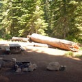 One of the campground's better sites.- Clackamas Lake Campground