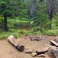 Backcountry campsite at Mirror Lake.- Mirror Lake + Tom Dick and Harry Mountain