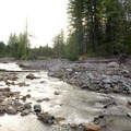 Sandy River, viewed from the campsites.- Sandy River Campsites