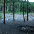 One of 10 campsites along the Sandy River.- Sandy River Campsites