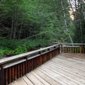 The campground's fishing platform.- Lost Creek Campground