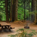 One of the campground's better campsites.- Lost Creek Campground