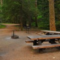 Double campsite.- Lost Creek Campground