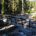 Bridge over Clark Creek.- Elk Meadows