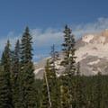 View of Mount Hood from Elk Meadows.- Elk Meadows