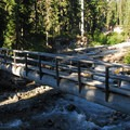 Bridge over Clark Creek.- Gnarl Ridge Hike