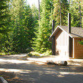 Campground restroom facilities.- Frog Lake Campground