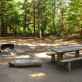 One of the campground's better campsites.- Frog Lake Campground