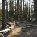 Trillium Lake's amphitheater.- Trillium Lake Campground