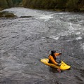 Eddied out.- Clackamas River, Sun Strip to Bob's Hole