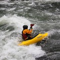 A little surf at the end of the run.- Clackamas River, Sun Strip to Bob's Hole