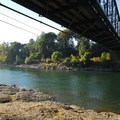 View under an old bridge, now used for pedestrian purposes.- High Rocks, Cross Park