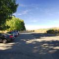 The Collins Beach parking area.- Collins Beach on Sauvie Island