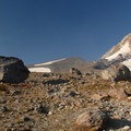 Mount Hood (11,250 ft) and Eliot Glacier.- Cooper Spur + Cloud Cap Hike