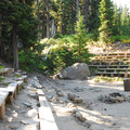 Tilly Jane amphitheater.- Tilly Jane Campground