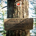 Continue beyond this sign for the trail to Indian Point.- Indian Point Hike via Herman Creek Trailhead
