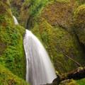 Wahkeena Falls.- Wahkeena Falls/Multnomah Falls Loop Hike