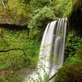Ecola Falls on the upper end of Multnomah Creek.- Wahkeena Falls/Multnomah Falls Loop Hike