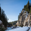 Winter access is inconsistent because the roads are not maintained. - Bagby Hot Springs