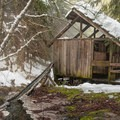 This building is called The Private Deck for the private stalls inside.- Bagby Hot Springs