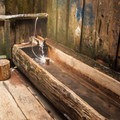 A tub inside The Private Deck.- Bagby Hot Springs