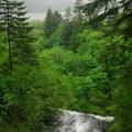 Bridal Veil Falls from the Historic Columbia River Highway.- Bridal Veil Falls, Oregon