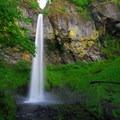 Elowah Falls and the basalt amphitheater.- Elowah Falls HIke