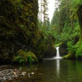Punchbowl Falls.- Eagle Creek Hike to Tunnel Falls